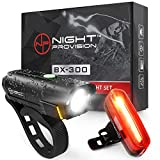 POWERFUL BX-300 CREE L2 Bike Light Set USB Rechargeable Front Headlight w/Amber Side