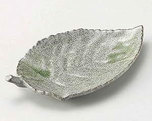 Kairagi Leaf 8.7inch Medium Plate Grey Ceramic Made in Japan