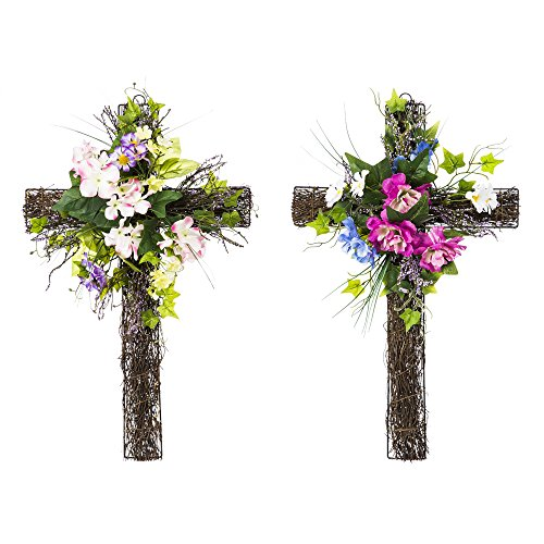 Cypress Home Spring Floral Wall Cross, Floral Wall crosses