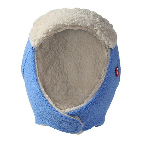 Zutano Toddler Cozie Fleece Furry Trapper Hat Periwinkle Periwinkle 3T