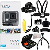 GoPro HERO+ LCD 32GB Bundle 11PC Accessory Kit. Includes 32GB MicroSD Card + High Speed Memory Card Reader + Head Strap + Chest Strap + Handheld Monopod + Premium Rugged Hard Case + Gripster Tripod + J-Hook Buckle + Bobber Handle + MORE