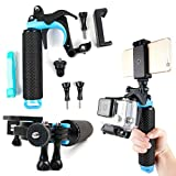 Floating Hand Grip Trigger Stabilizer Support Mount for SJCAM Cameras: M20, SJ Z1000, SJ1000, SJ4000, S4000+, SJ5000, SJ5000 Plus, SJ5000 Elite, SJ5000x - by DURAGADGET