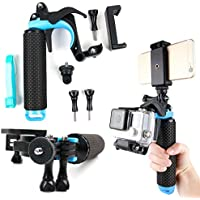 Floating Hand Grip Trigger Stabilizer Support Mount for Rollei Actioncam: 300, 300 Plus, 330, 400, 410 , 415, 420, 425, 430 - by DURAGADGET