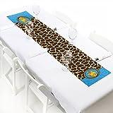 Giraffe Boy - Petite Baby Shower or Birthday Party Paper Table Runner - 12'' x 60''