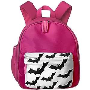 "Halloween Bat Trick Or Treat Kid Child Sweetheart School Bag Bookbag Lightweight Travel Shoulders Bag Backpacks 12.5"" Height"