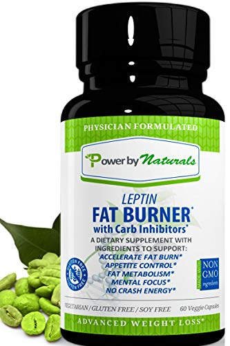 PbyN - Dr Formulated Leptin Fat Burner with Carb Inhibitor, Metabolic Natural Weight Loss Supplement, Thermogenic Fat Burn for Men and Women, Appetite Suppressant, Carb Blocker, 60 Diet Pills