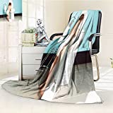300 GSM Fleece Blanket A Toddler in bathroom look at the toilet Super Soft Warm Fuzzy Lightweight Bed or Couch Blanket(90''x 70'')