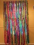 Multi Color Tie Dyed Hippie Curtains (Gypsy, Hippie, Hippy, Boho, Beach, Shabby, Shower Curtain, Photo BackDrop)