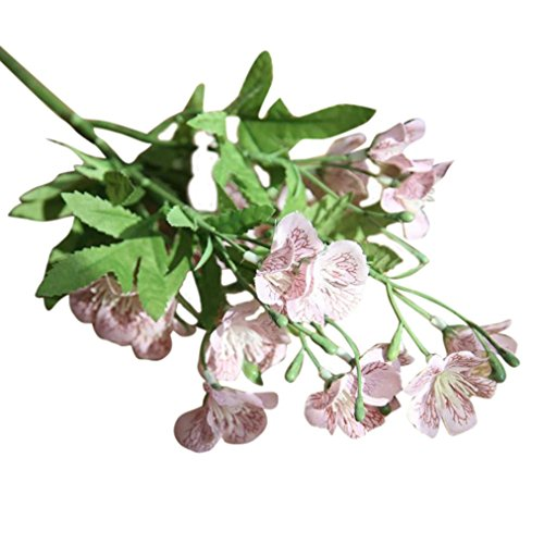 Hot Sale!!Woaills Wedding Home Decor - Bouquet Phalaenopsis Butterfly Orchid Artificial Silk Flower (Pink) (Wine And Flowers Delivered)