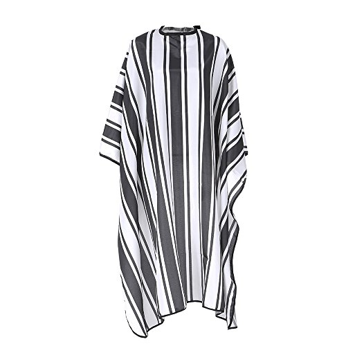 Anself Hairdressing Apron Salon Barber Color Gown Waterproof Hair Dyeing Cutting Cape Anti-static (Stripe) by