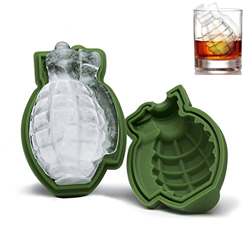 NPLE--Grenade Shape 3D Ice Cube Mold Maker Bar Party Silicone Trays Mold Tool - Glasses Street Magazine