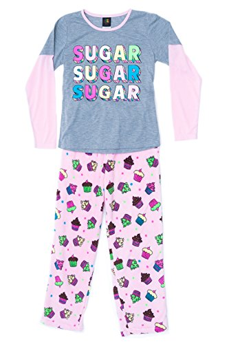 Just Love Two Piece Girls Pajamas Set,Cupcake Dot,10-12 - Cupcake Pajama Set