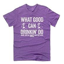 Janis Joplin Good W WHT Rock Men's Premium T-Shirt