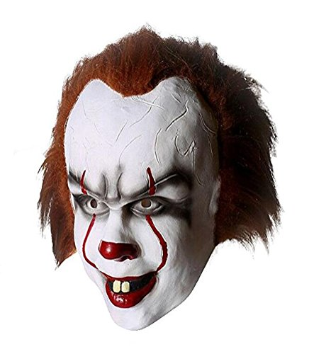 Movie Masks For Sale (Yangxiao Unisex Hot Sale Clown Cosplay Mask Costume Accessories For Halloween (One Size, As picture))