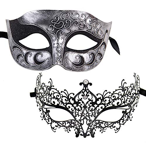 Xvevina Fashion Gifts Masquerade Ball Mask for Couples (Ana -