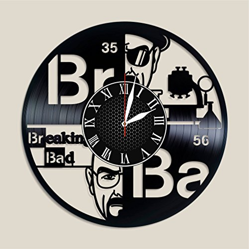 Olha Art Design Breaking Bad Vinyl clock, Breaking Bad decor Breaking Bad Breaking Bad music Breaking Bad music band Breaking Bad fan gift valentines decor