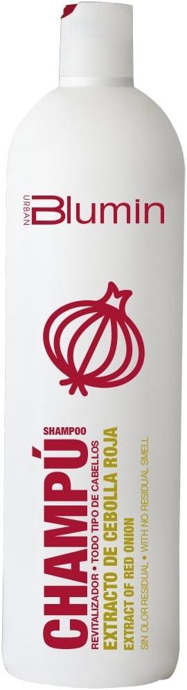Blumin Champú con Extracto de Cebolla Roja, Aceite de Argán y Macadamia Efecto Revitalizador y Estimulador de Crecimiento 1000 ml
