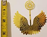 """3"""" Miniature Gold Metal Filigree Angel Wings with"""