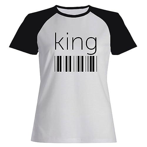 Idakoos King barcode - Cognomi - Maglietta Raglan Donna