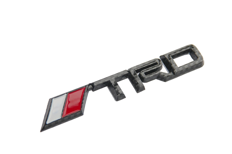 AUTO-P Toyota TRD Car Emblem Chrome Stickers Decals Badge Labeling for (Carbon fiber grid plastic)