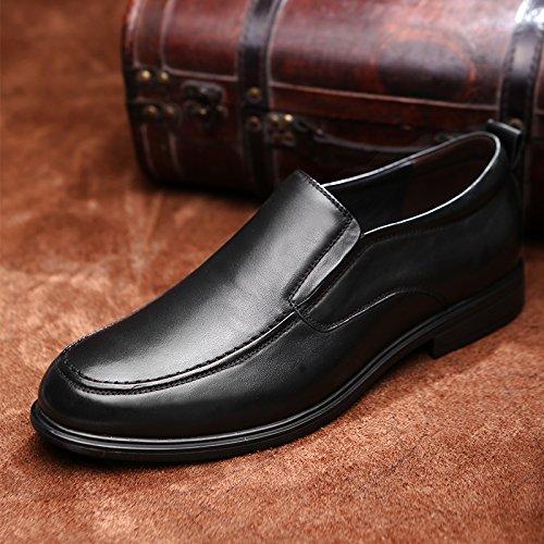 Soft DEKESEN Black Shoes Loafers Slip Men's Leather Ons B6Hq56