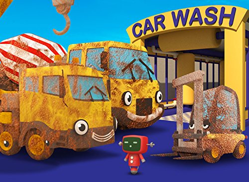 Cleaning Muddy Construction Trucks in the Car Wash with Gecko's Garage (Mixer Mobile)