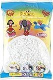 Hama Beutel mit 3000 Bügelperlen weiß