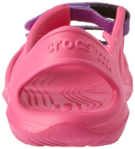 crocs Sandalias de Vestir de Material Sintético Para Niña Paradise Pink/Amethyst