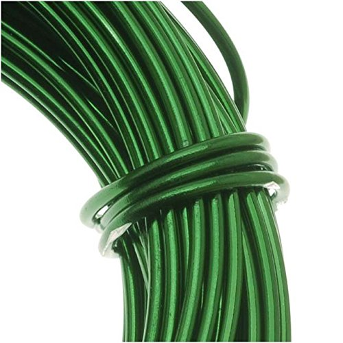 BeadSmith WCR-4110 11.8m Aluminum Craft Wire, Kelly Green, (12 gauge/39ft)