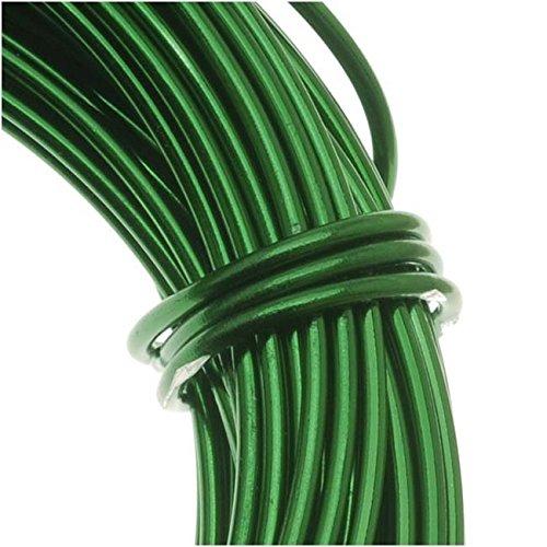Beadsmith WCR-4110 - Alambre de aluminio para manualidades, 11.8 m, color verde, calibre 12