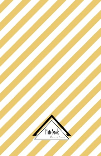 """Notebook Journal Dot-Grid,Graph,Lined,No lined : Geometric Orange Gold Simple Line Pattern: Small Pocket Notebook Journal Diary, 120 pages, 5.5"""" x 8.5"""" (Blank Notebook Journal) PDF"""