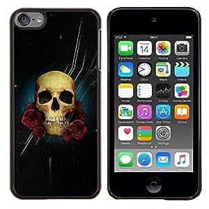 Stuss Case / Funda Carcasa protectora - Estrellas noche negra del cráneo de Rose Flores - Apple iPod Touch 6 6th Touch6