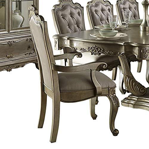 Homelegance Arm Chair in Silver - Set of 2