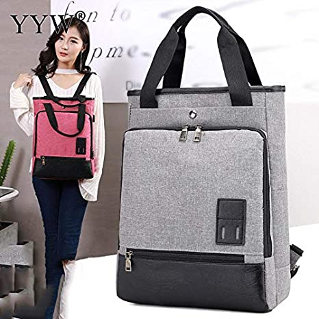 Amazon.com: Women Ladies Concise Backpack Famous Large Capacity Shoulder Bag Tote Gray Fashion Crossbody Satchel Teenager Girl: Kitchen & Dining