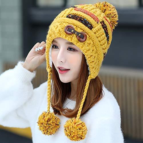 Invierno Amarillo Mujer Color Gorro Amarillo Para Dvfgsxxht Rojo De Exn6qw8