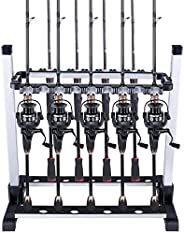ODDSPRO Fishing Rod Rack, Fishing Rod Holder - Holds Up 6-18 Rods - for Most Types of Fishing Rods and Combos