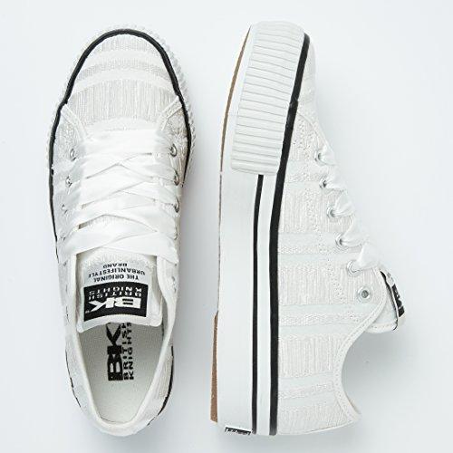 Donne Bassa White Sneakers Platform British Master Knights Hxwq6FFA