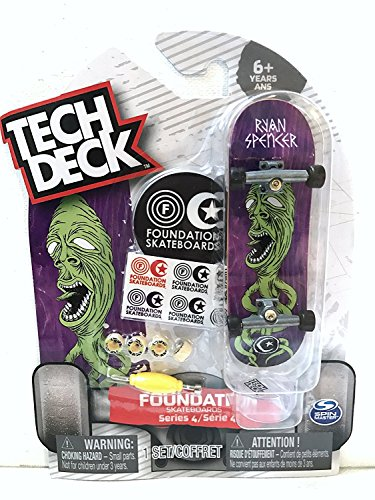 - Tech Deck Foundation Series 4 Ultra Rare Chase - Ryan Spencer Finger Skateboard with Display Stand