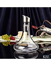 Crystalline Wine Decanter with Stainless Steel Aerator