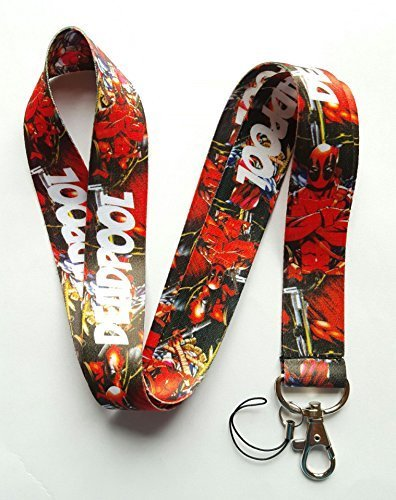 Marvel Deadpool Keychain ID Hold Lanyard