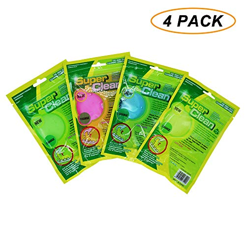 Bonzer-Shine 4PCS Keyboard Cleaning Gel Magic Cleaning Gum,Super Soft Sticky, Dust Cleaner- Wipe Dust, Hair, Crumbs from Electronics,Keyboard, Keypad, Air Vent Instrument