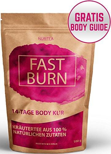 Body Fit Detox Tee - 14 Tage Entschlackungskur - 100% natürliche Kräuterteemischung - Grüner Tee, Rooibos, Hibiskusblüten, Hagebutten, Ingwer & Chillies - Kann ergänzend zur Diät & Abnehmen verwendet werden!