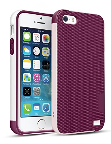 Cheap Cases iPhone SE Case,iPhone 5S Case,TILL(TM) [Ultra Hybrid] Slim 3 Color Hybrid Dual..