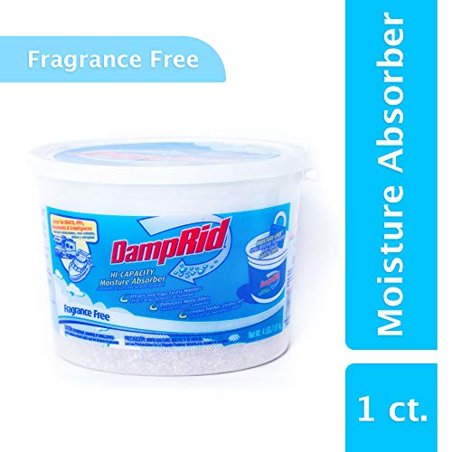 DampRid FG50T Hi-Capacity Moisture Absorber, 4-Pound Tub, Fragrance Free, 4 Pound