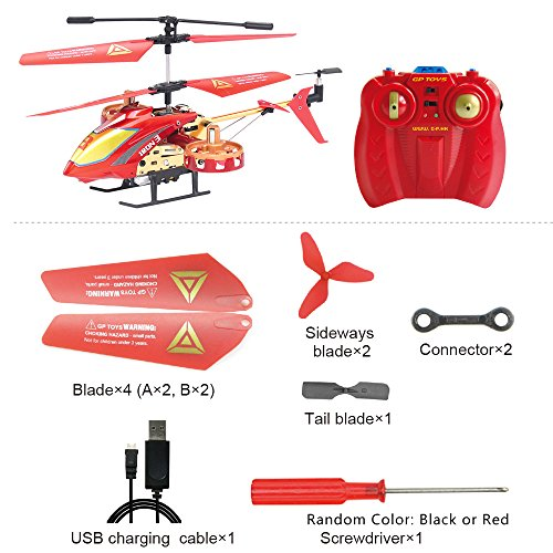 GPTOYS Remote Control Helicopter 4 Channel RC Helicopter with LED Light Indoor Rechargable RC Toys for Kids Boys and Girls by GPTOYS (Image #2)