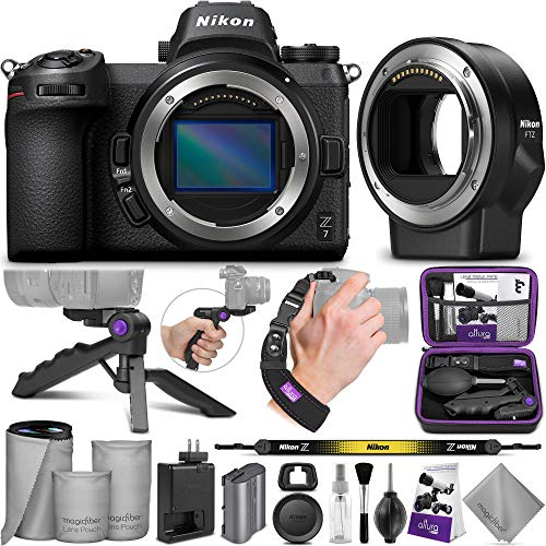 Nikon Z7 Mirrorless Digital Camera + Nikon FTZ Mount Adapter with Altura Photo Essential Accessory Bundle
