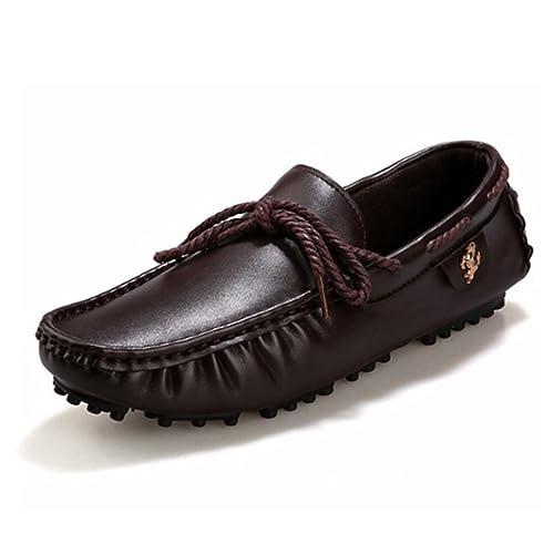 Hombres Zapatos Casuales Mocasines MocasíN CóModo Slip-On Zapatos De Ocio Plano SóLido Zapato De ConduccióN: Amazon.es: Zapatos y complementos