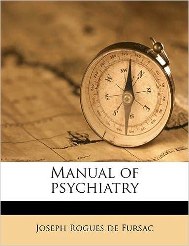 Book Manual of psychiatry