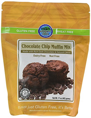 Authentic Foods Gluten Free Chocolate Chip Muffin Mix, 17 Ounce by Authentic Foods