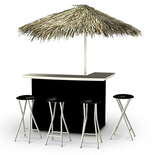 Best of Times Portable Deluxe Bar; Solid Black - Palapa